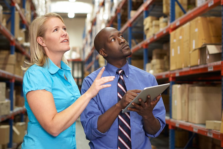 Lean Six Sigma professional taking inventory