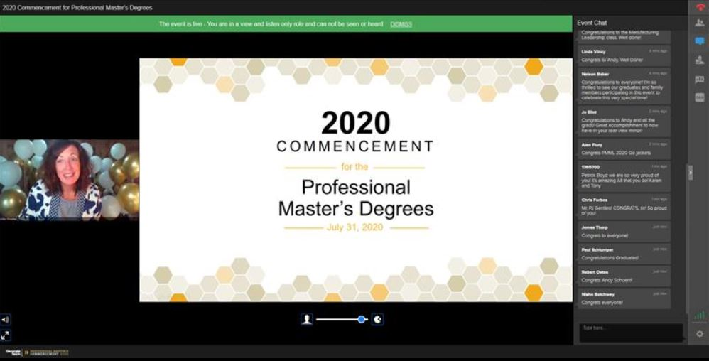 Professional Master's virtual graduation