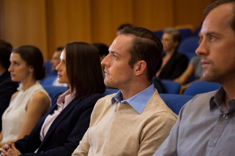 Defense tech professionals attending a short course