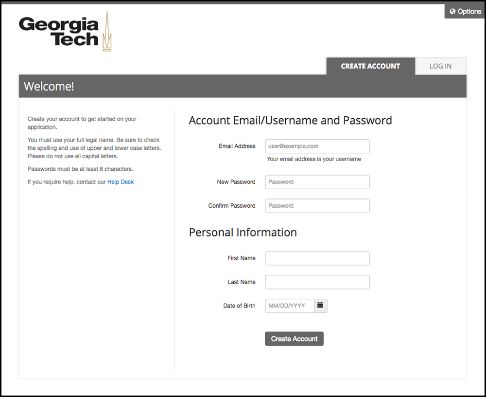 How to apply gtpe 4 next you will need to create an account on applyweb to do so create a username and password and fill in your contact information xflitez Gallery