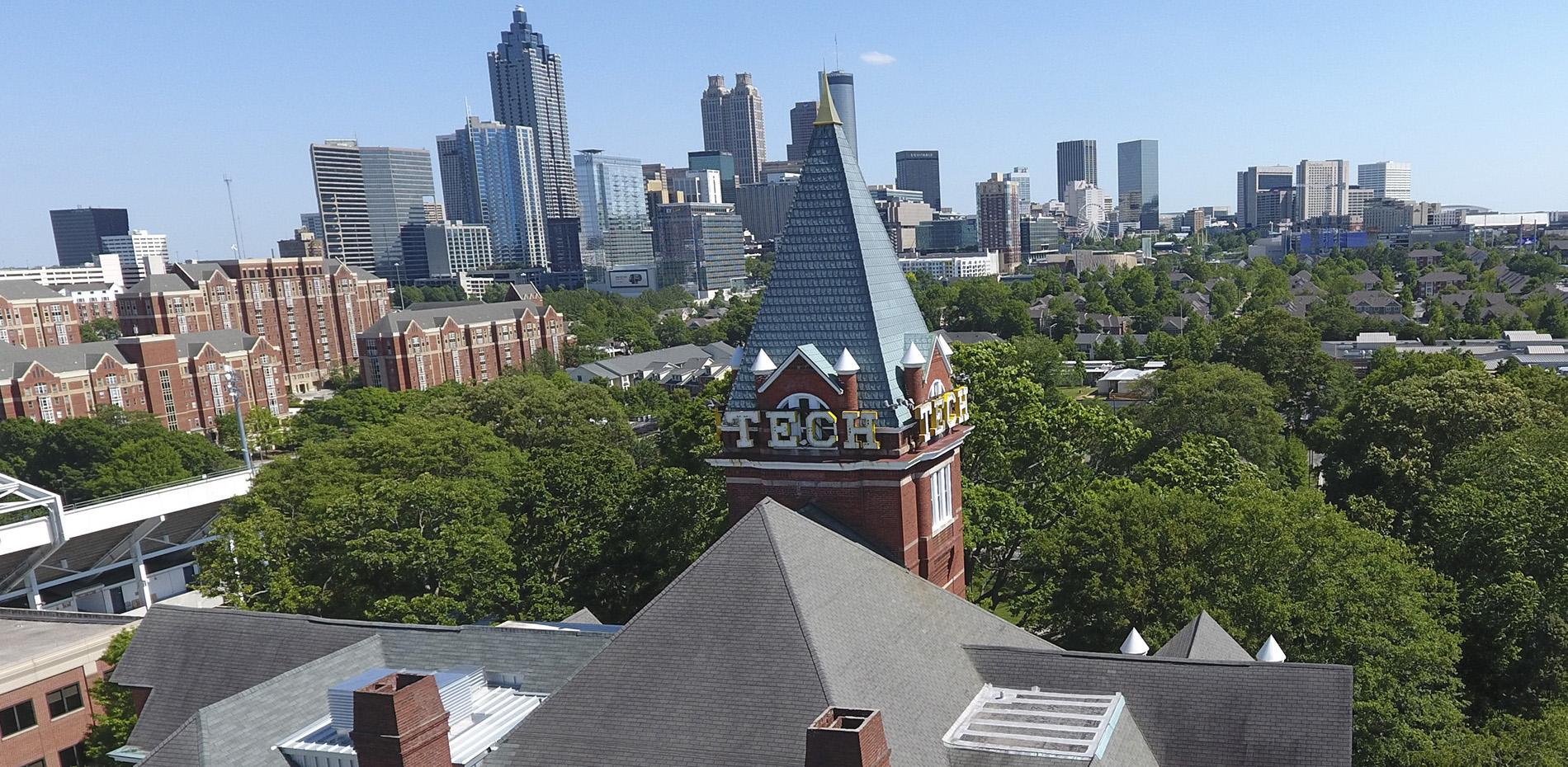 Overhead view on Georgia Tech
