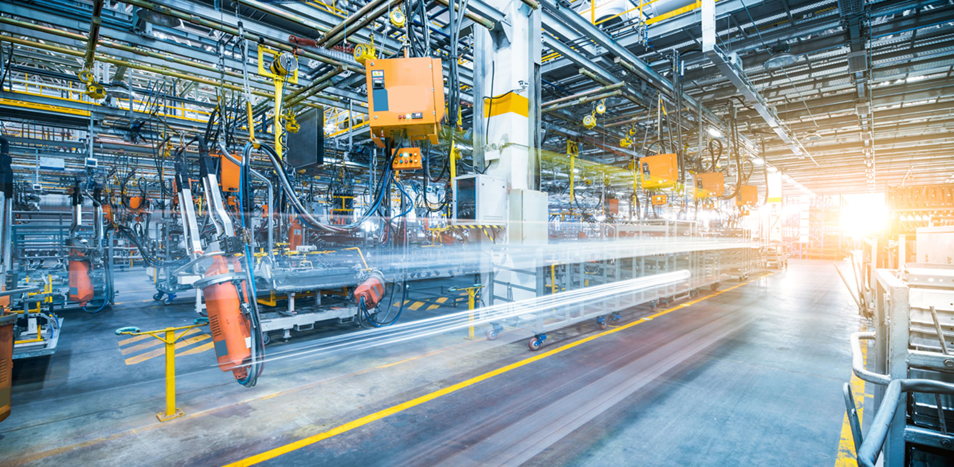 Snapshot of factory in motion