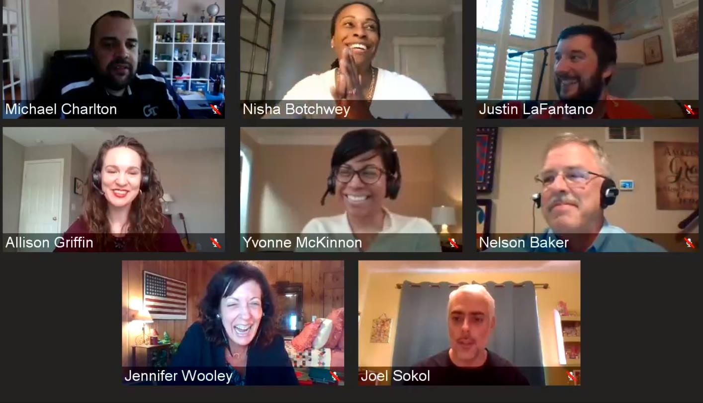Academic Programs staff and leaders from the OMS Analytics program kickoff the first-ever virtual meetup.