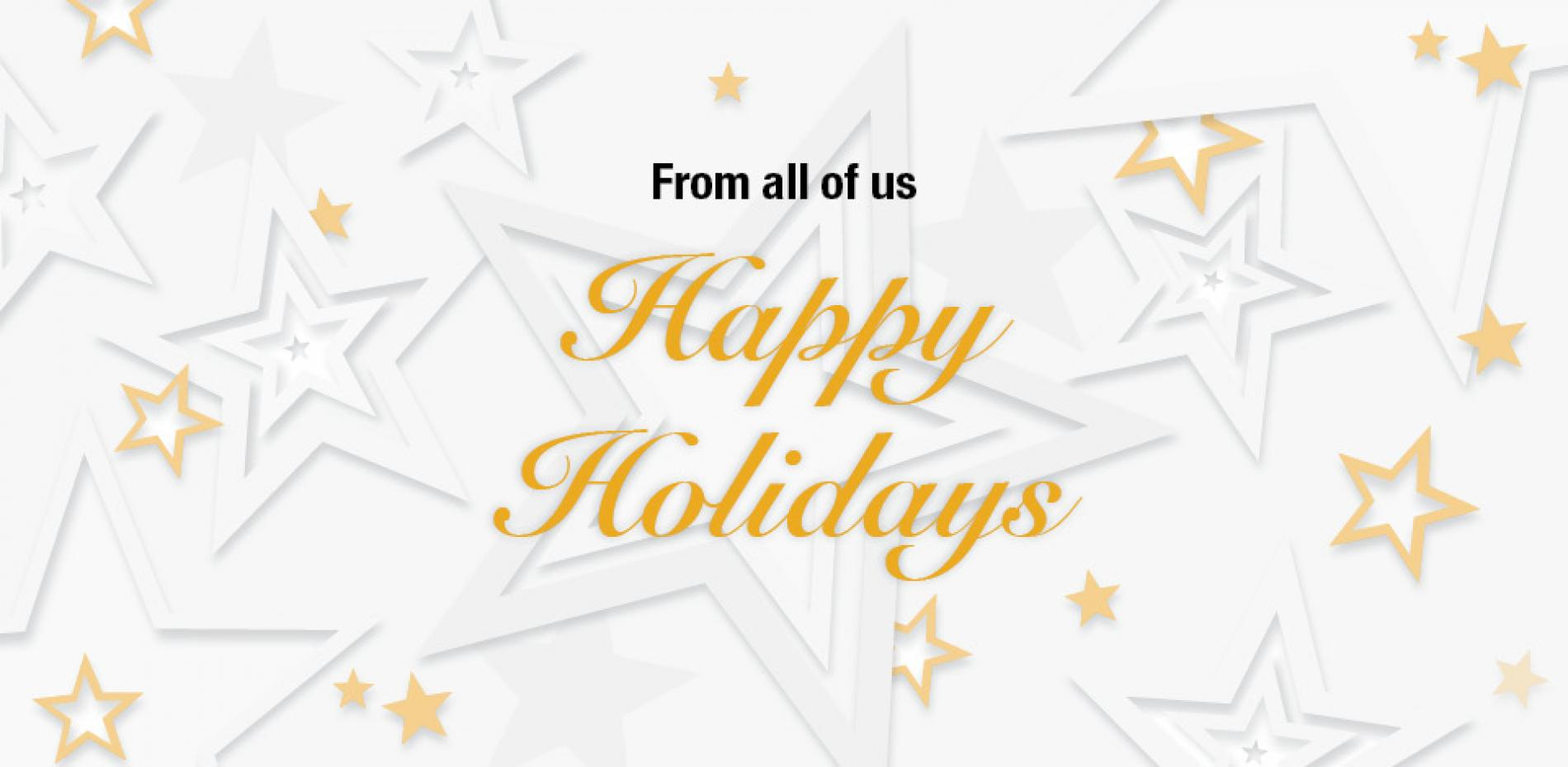 From All of Us, Happy Holidays